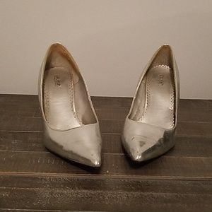 Silver splash heels